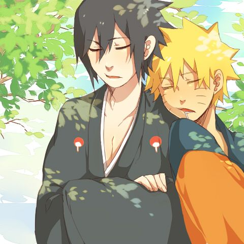 For some reason when ever these two are together Naruto is asleep, and Sasuke is either sighing or rolling his eyes.