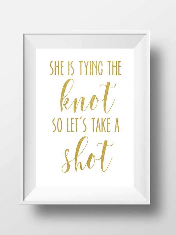 It's not peer pressure when it's coming from cute signage, right? Print out punny signs for the perfect bachelorette party decor!