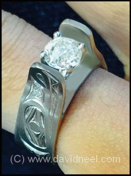 Wolf Ring, platinum & diamond.   www.davidneel.com