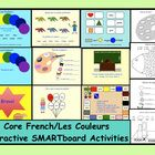 "$  This is a Smart Notebook file to teach ""Les Couleurs"".  Pg 1 Voilà les couleurs de l'arc en ciel.    Pg 2 - 16  Interactive Smartboard game.  Stude..."