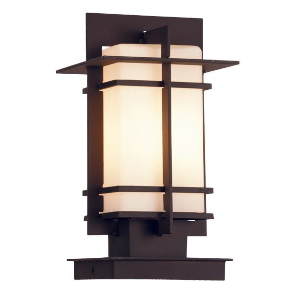 Wright 1 Light Exterior Pillar Mount in bronze | Outdoor House Lighting | Outdoor Lighting | Lighting