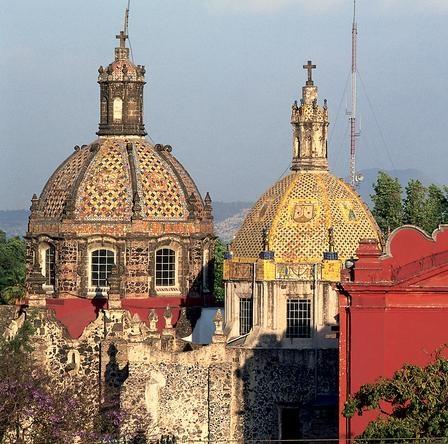 Ex-Convento e Iglesia del Carmen, en San Ángel.México DF.