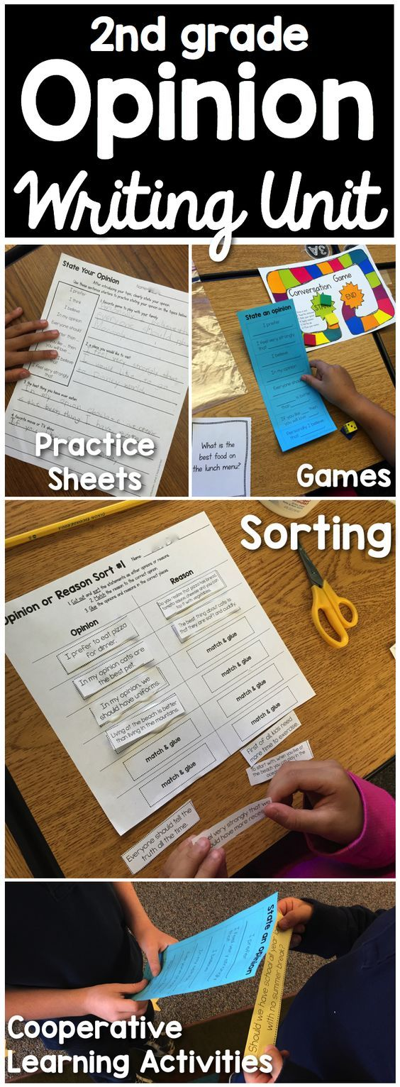 How do you teach opinion writing? We focus on building each part of the opinion paragraph through oral language partner practice, games, and fun. By scaffolding learning, we can focus and provide students with the resources they need to learn to write well-crafted opinion pieces. Instructional Strategies • Cooperative Learning Activities • Sorts • Sentence Frames • Templates • Practice Sheets • Assessments • Checklist A complete common core aligned resource to teach writing.