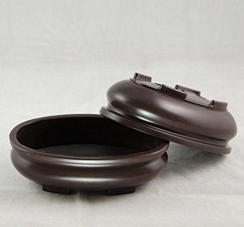 2-Oval-Dark-Brown-Plastic-Bonsai-Training-Pot-7-x4-5-x2