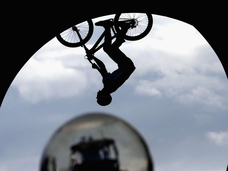 Louis Reboul of France competes during the Swatch Prime Line mountain bike finale at Munich Olympic Park on July 20 in Germany.