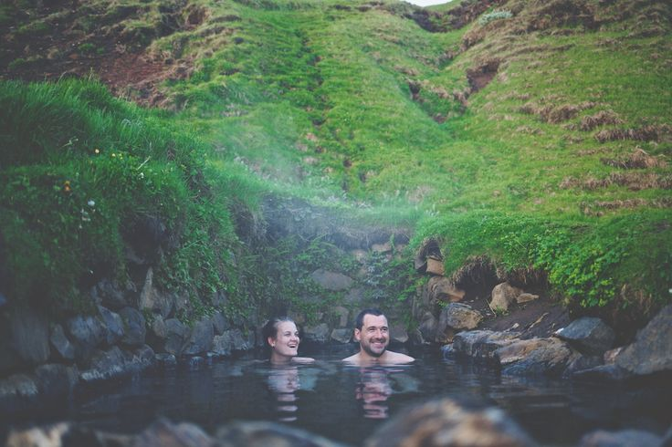 Hotsprings are an absolute must while you're traveling through Iceland. This one is call hrunalaug