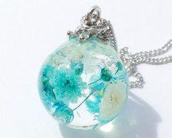 [★PSYCHE☆] 花の涙 ネックレス (ブルー) 《再々販》