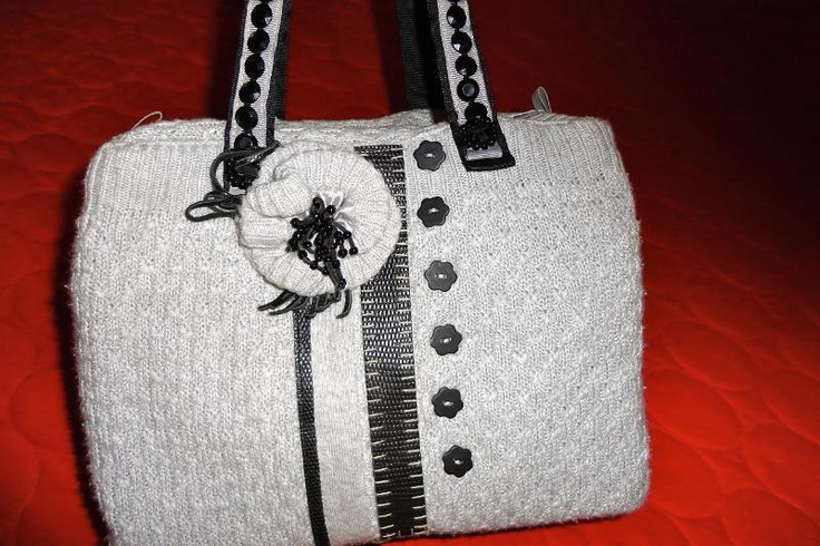 sweater purse: Sweater, Purse Ideals, Crafty Things, Cycled Clothes