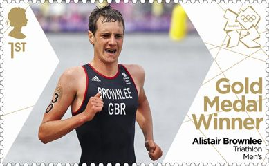 Royal Mail 'next day' Gold medal winners stamps for Team GB - Alistair Brownlee Triathalon #London2012 #Olympics