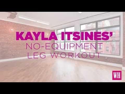 WATCH: Kayla Itsines BBG Legs Workout Video - Women's Health