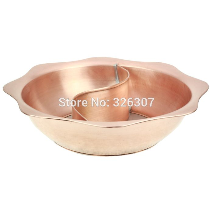 FREE SHIPPING 38cm Sichuan Chongqing China copper mandarin duck hot pot thickened Mongolian Chinese copper handmade,fire pot