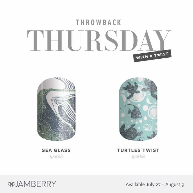 #tbt Sea Glass & Turtles Twist is back in stock for two weeks only! #jamberry Ends 8-7-17!