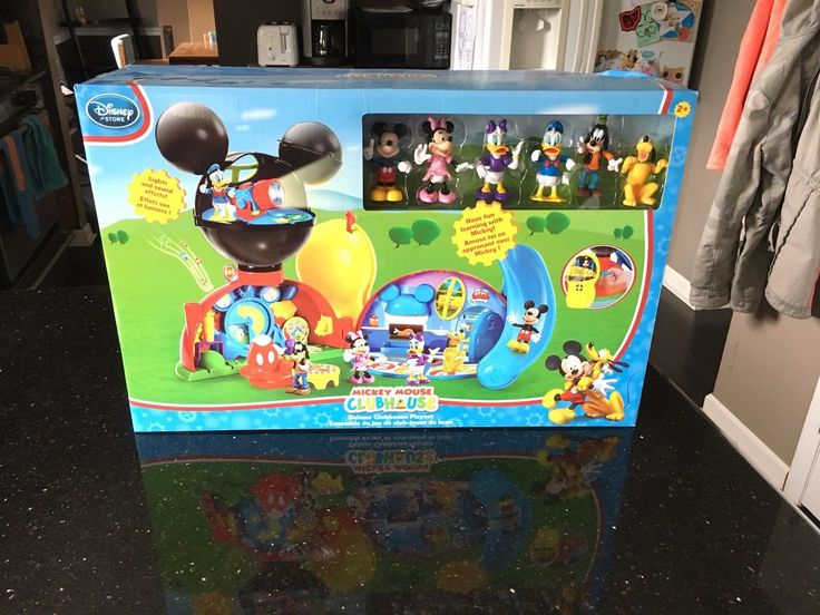 Mickey 19219: New! Disney Store Exclusive Mickey Mouse Deluxe Clubhouse Playset Lights Sounds -> BUY IT NOW ONLY: $109.99 on eBay!