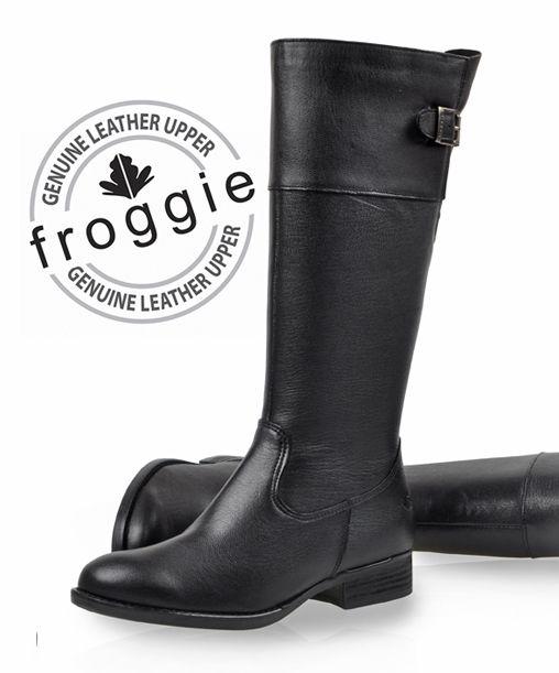 <ul> <li>100% Genuine leather</li> <li>Froggie shoes are engineered for comfort.</li> <li>Beautifully styled from quality genuine leather.</li> <li>Cushioned soles ensure all day comfort.</li> </ul>