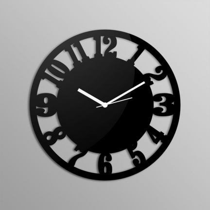 Creative Width Vintage Number Circles Black Wall Clock,Wall Clocks