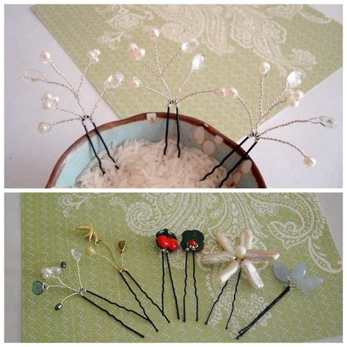 ... about hair pins on Pinterest | Pearl hair pins, Diy hair and A bowl