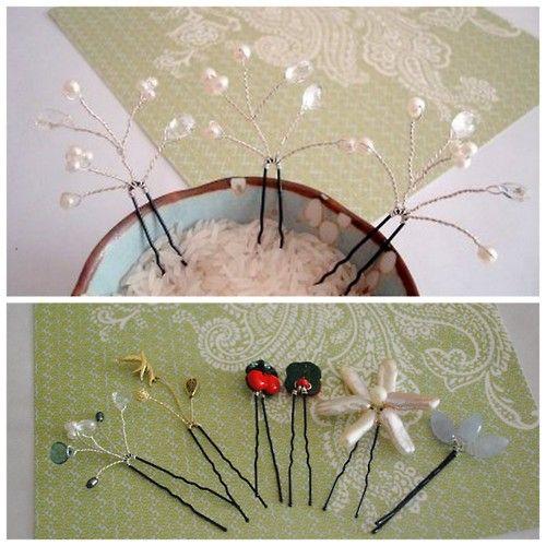 ... about hair pins on Pinterest   Pearl hair pins, Diy hair and A bowl