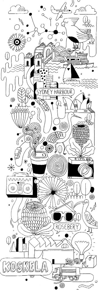 We LOVE this banner that James Gulliver Hancock Illustrated for Koskela's Ventura Lambrate exhibition in April.