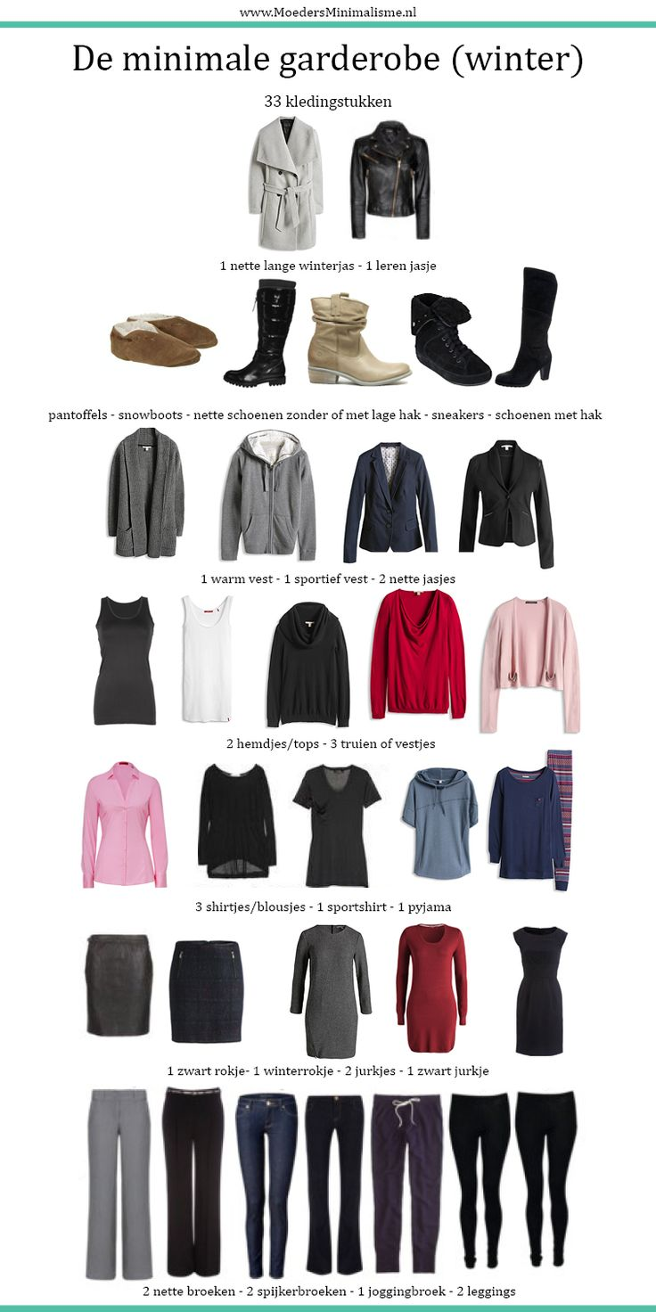 Maak een persoonlijke kledinglijst! Kijk voor een voorbeeld op MoedersMinimalisme.nl #minimale garderobe