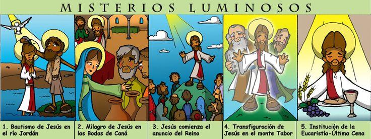 """MISTERIOS GOZOSOS (Lunes y Sábados) 1. La Anunciación """"El ángel le dijo: No temas María, porque has hallado gracia delant..."""