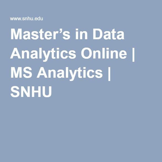 Master's in Data Analytics Online | MS Analytics | SNHU