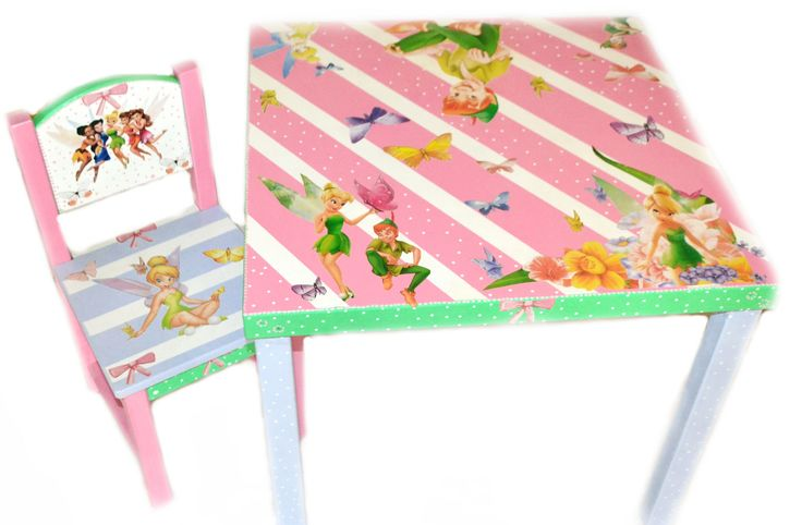 table and chair for her playroom :) Lne's artwork