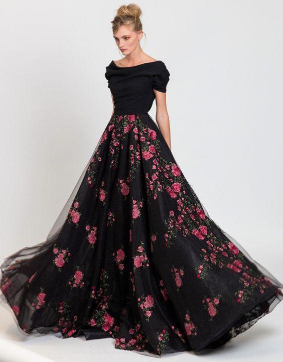 Featured Dress: Tony Ward; Evening dress idea.