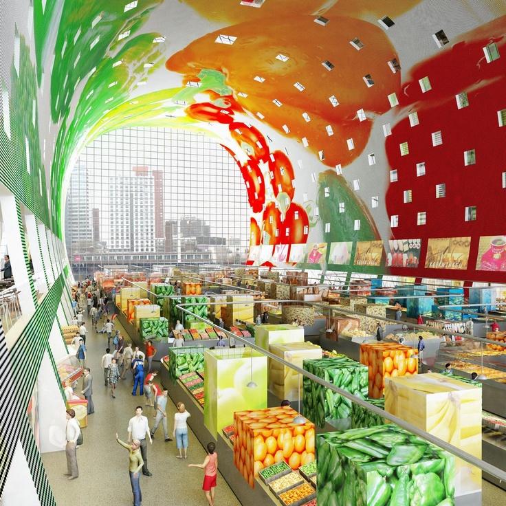 Rotterdam Market Hall rotterdam.  MVRDV. (under construction)