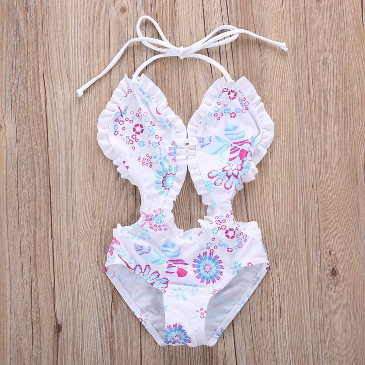 $4.47 (Buy here: alitems.com/... ) baby Girls Floral one piece swimwear bikini children's swimwear girls bathing suits swimming Clothes Kid girl swimwear beachwear for just $4.47