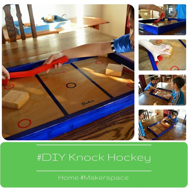 When the ice melts from the first burst of spring, the hockey fun doesn't have to stop. Take hockey inside with DIY Nok Hockey, a wood table-top game which makes for hours and hours of fun.