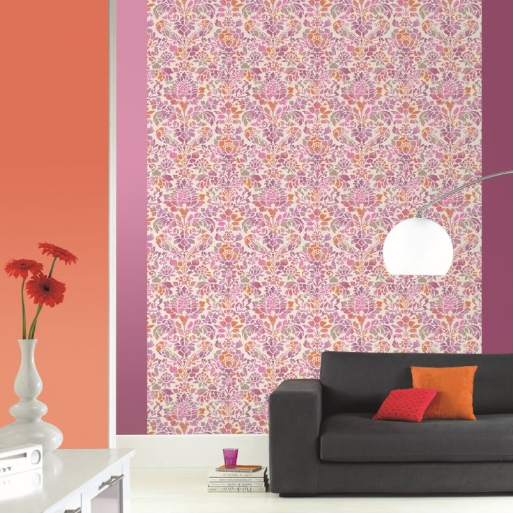 A gorgeous mix of pinks and oranges add some wow factor to the room in this wallpaper mural. From the Trendy Panels collection, Namaste TDP63804050. This is a Guthrie Bowron exclusive range in NZ.