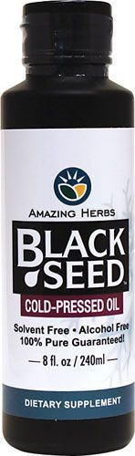 Amazing Herbs Cold-Pressed Black Seed Oil delivers natural essential fatty acids (EFAs) along with many other nutritional benefits for good health when used on a regular basis. This freshly cold-pressed and unrefined virgin black cumin seed oil (Nigella sativa) contains no preservatives and is gluten free. $17.59