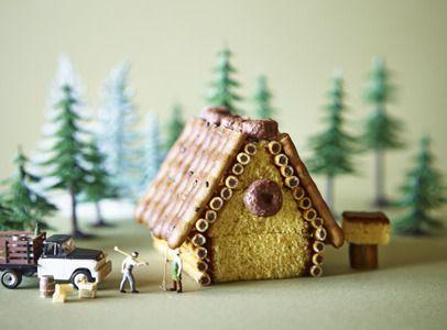 カステラと市販のお菓子で「お菓子の家」が作れた!【オレンジページnet】プロに教わる簡単おいしい献立レシピ