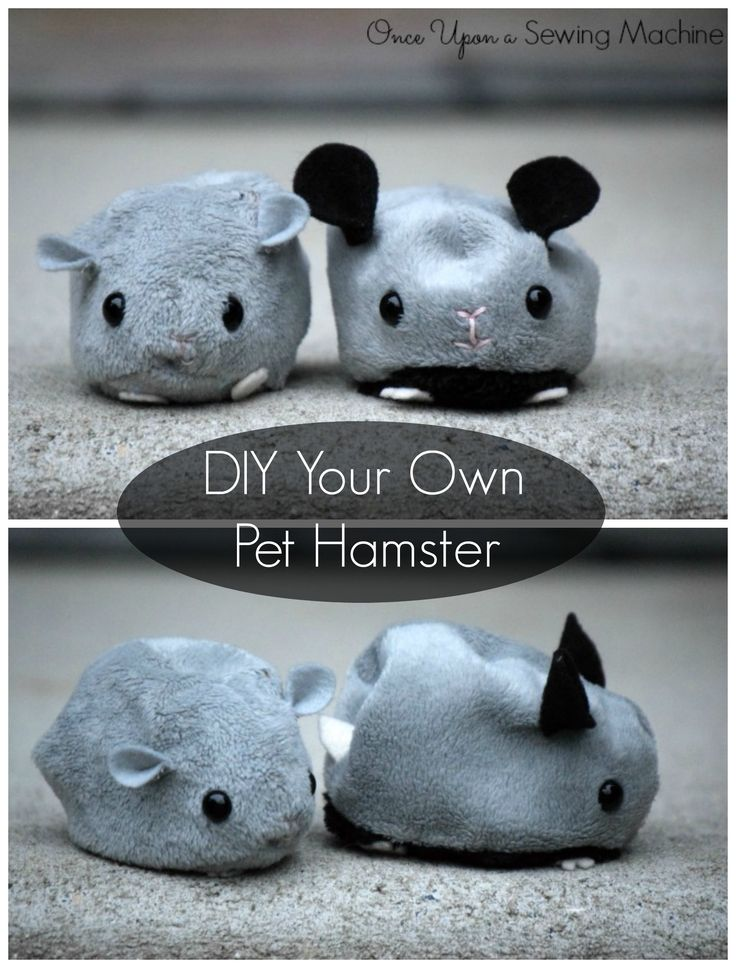 The easiest to care for pet! Sew your own softie hamster. These cute guys are easy to tweak to have their own individual personalities!