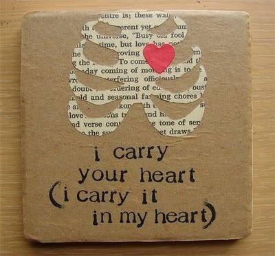 very creative!: Wall Art, Diy Coasters, Heart, Cute Ideas, Favorite Poems, Ee Cummings, Quotes Art, Wedding Poems, Eecum