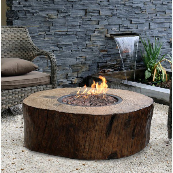 You Ll Love The Burning Stump Stone Propane Fire Pit Table At