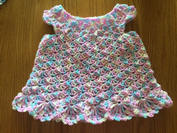 Little crocheted dress  stroll down to bottom for instructions