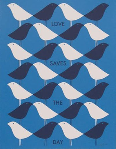 "Paul Rand | Illustration - ""Love Saves the Day"""