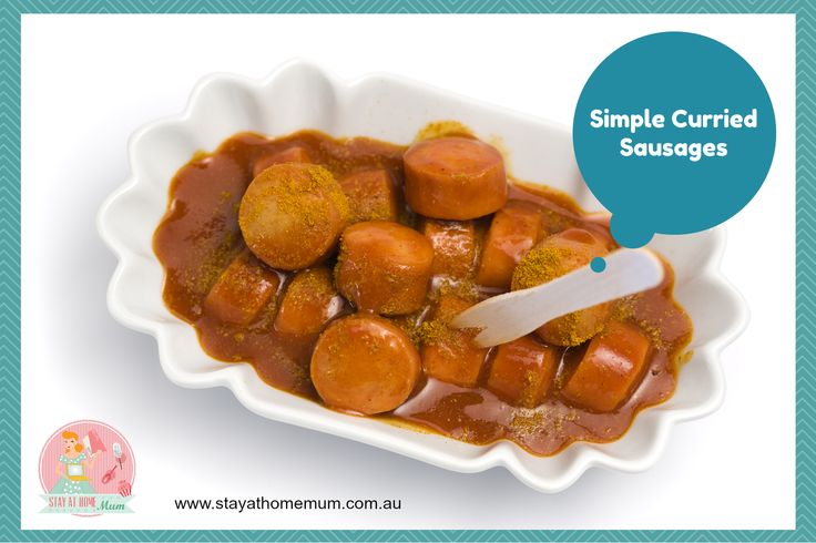 Simple Curried Sausages | Stay at Home Mum