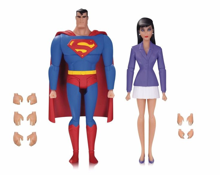 Superman The Animated Series Superman & Lois Lane Action Figure 2-Pack #DCComics