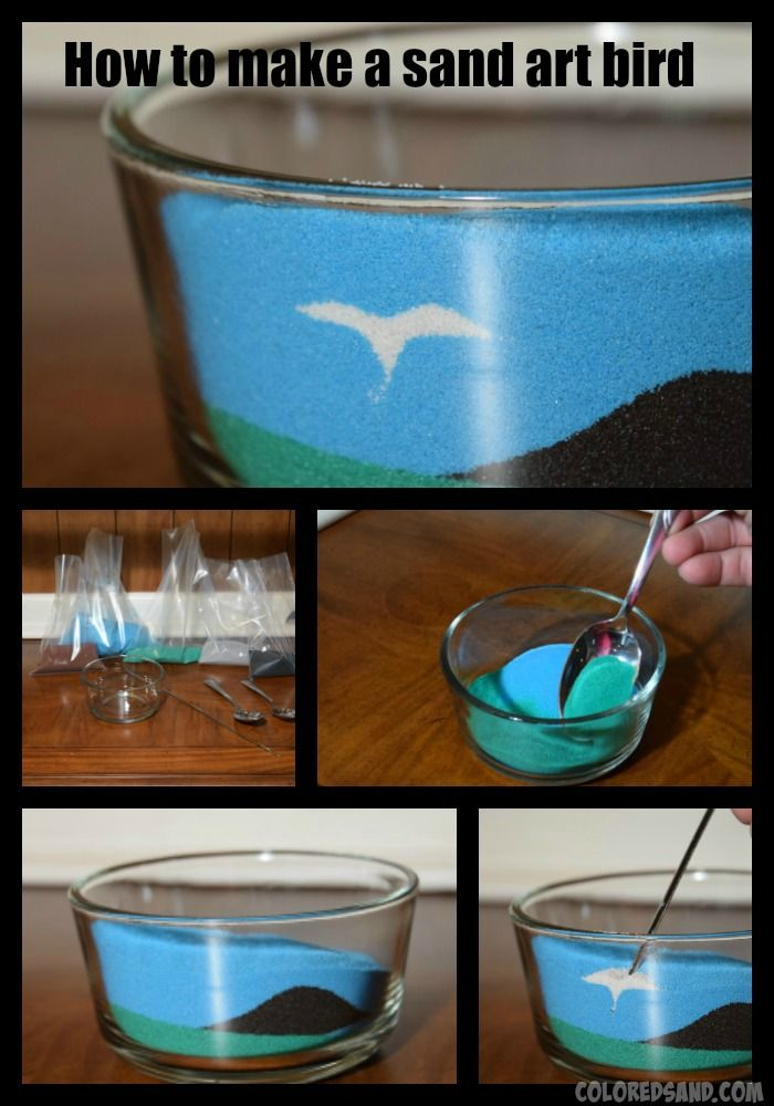 Learn how to make this nifty colored sand art bird for your next craft project.