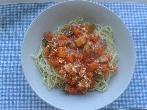 Spaghetti mit Gemüsebolognese