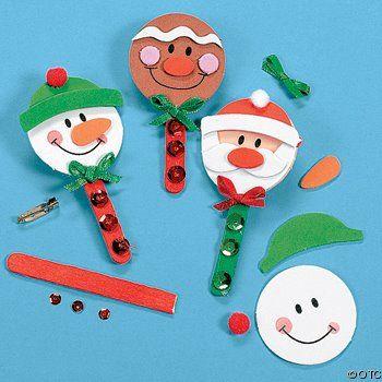 lavoretti natalizi con gli stecchi dei ghiaccioli e gelati
