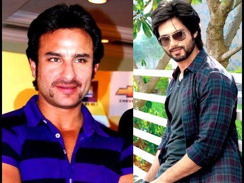 Saif Ali Khan praised wife Kareena ex boyfriend Shahid Kapoor