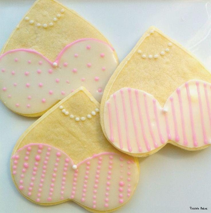 Lingerie Shower Cookies