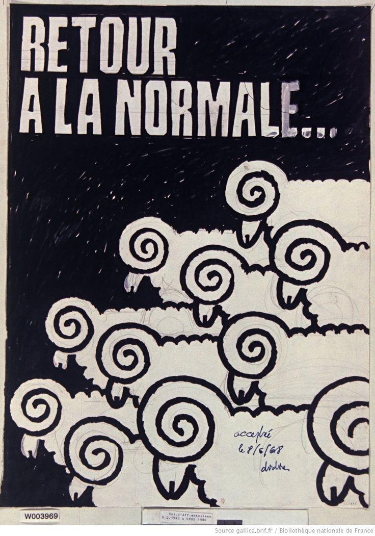 [Mai 1968]. Retour à la normale... (les moutons) [