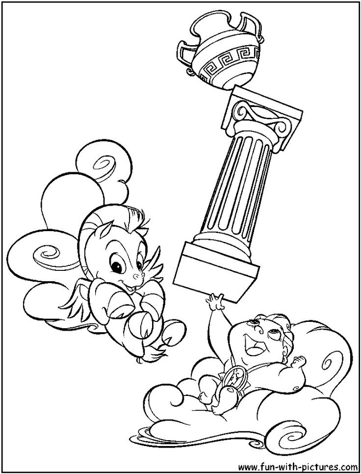 Pretty Photo of Hercules Coloring Pages in 2020   Disney ...