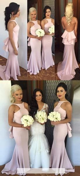 On Sale Popular Charming Open Back Sexy Mermaid Long Bridesmaid Dresses for Wedding, WG11