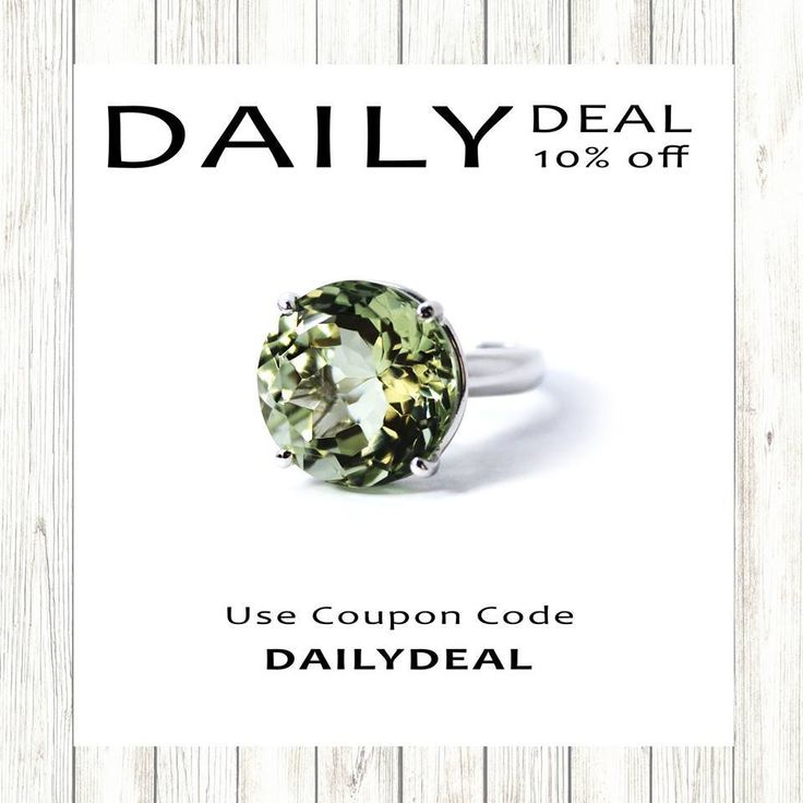 Our Daily Deal Flash Sale is back with -10% off this Mont quartz round cut solid silver set ring. Use coupon code: DAILYDEAL10.Buy them via the website here:https://shop.sarahhughes.net/products/mint-quartz-round-brilliant-cut-solid-silver-cocktail-ring-size-6-ready-to-ship-or-resizeOr via the Etsy store here:https: