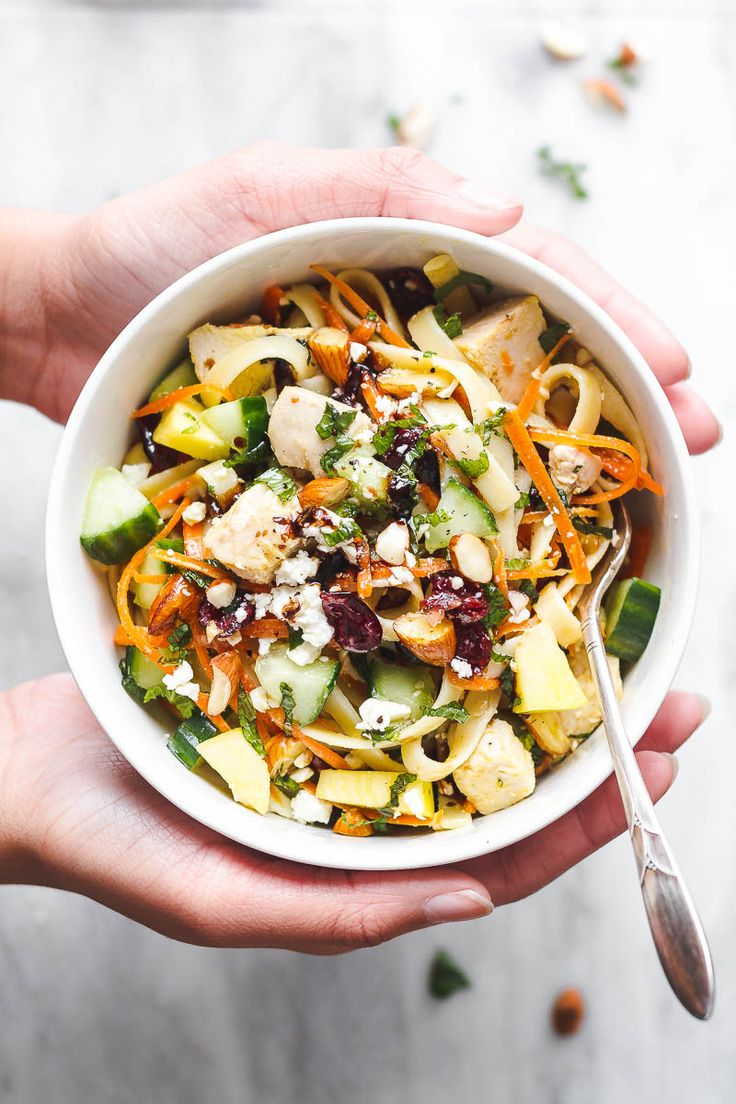 Chicken Pasta Salad Bowl - Perfect for meal prep or a healthy lunch on the go